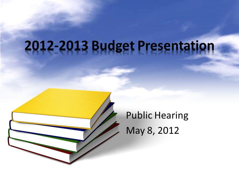 Public Hearing May 8, 2012