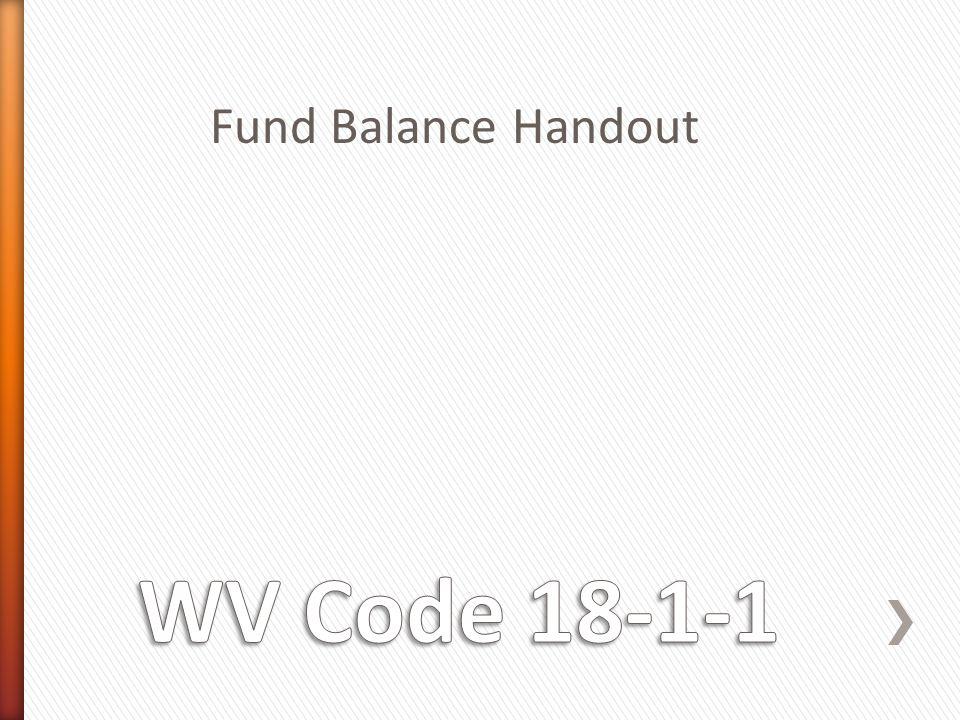 Fund Balance Handout