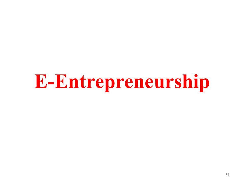 E-Entrepreneurship 31