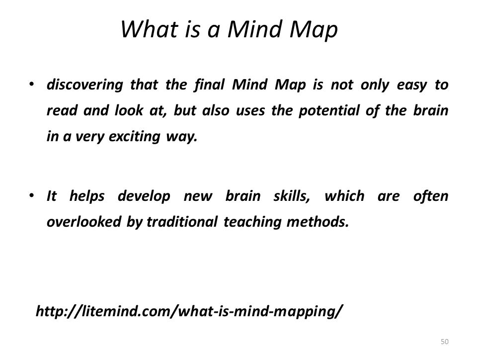 What is a Mind Map discovering that the final Mind Map is not only easy to read and look at, but also uses the potential of the brain in a very exciting way.