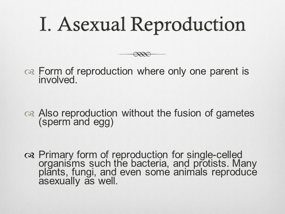 VII.Disadvantages of Sexual Reproduction 1.