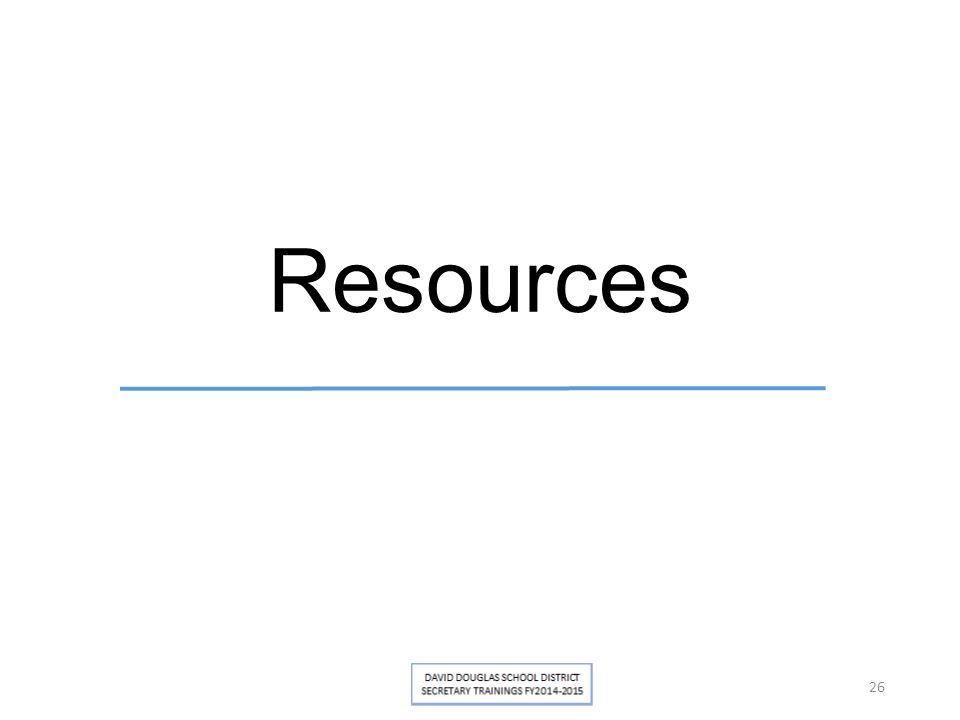 Resources 26