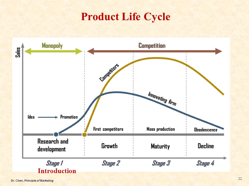 Dr. Chen, Principle of Marketing 22 Product Life Cycle Introduction