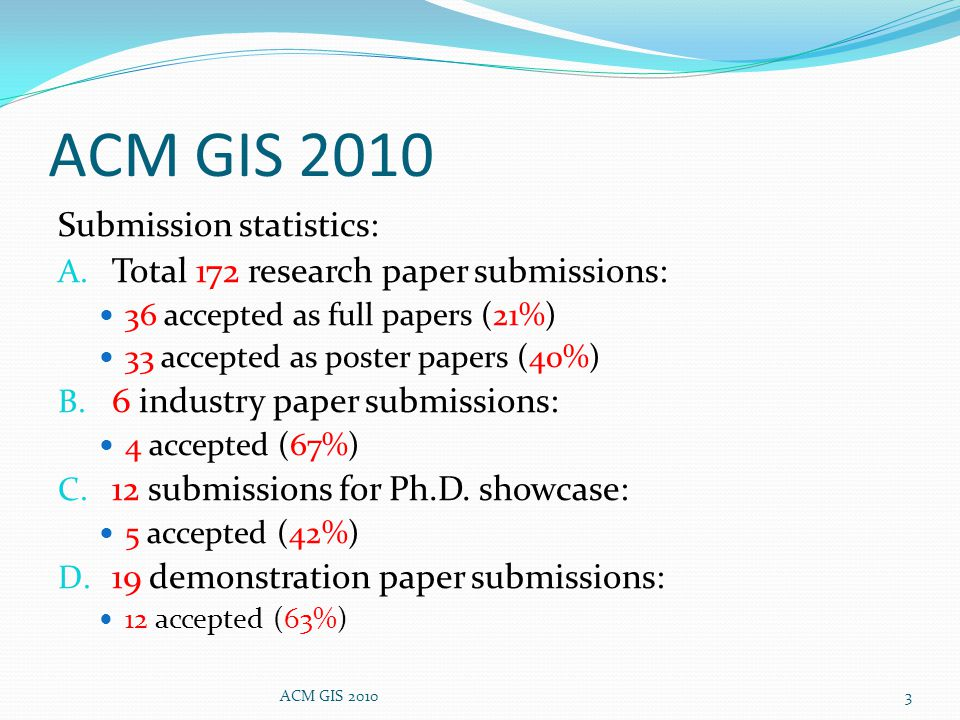 Submission statistics: A.