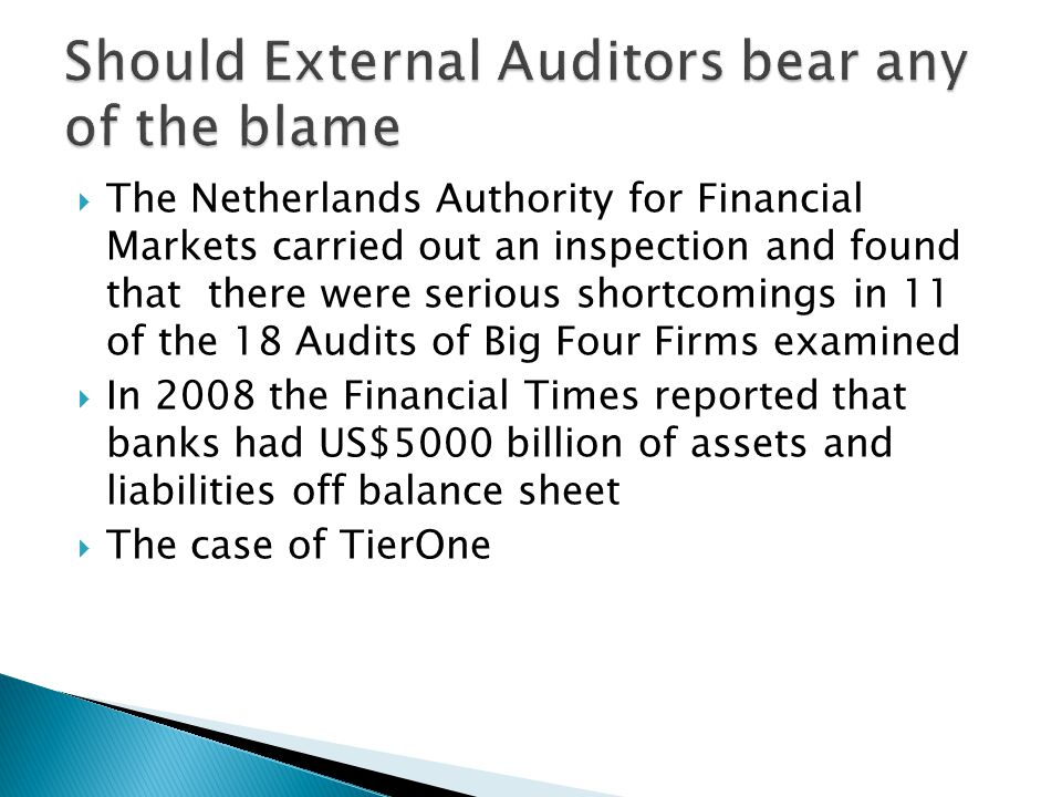  Auditors charge higher fees and expend more effort to reduce audit risk after a crisis (Chen & Zhang)  Auditors Less likely to issue a modified opinion during a crisis (Chen & Zhang)  Auditors less likely to resign during a crisis (Chen and Zhang)  Engagement effort and billing rate increase with risk (Bedard & Johstone 2004)  Riskier clients less likely to be accepted by auditors (Bedard & Johnstone 2004)