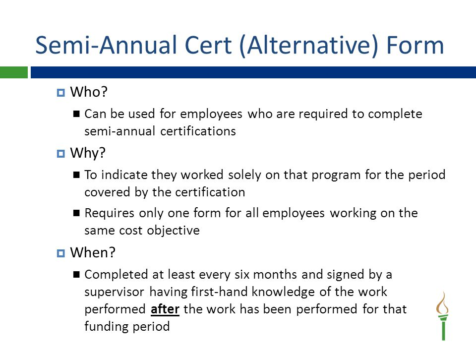 Semi-Annual Cert (Alternative) Form  Who.