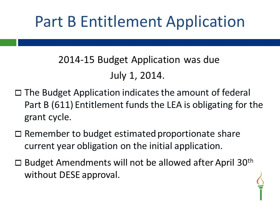 Part B Budget Application Grid
