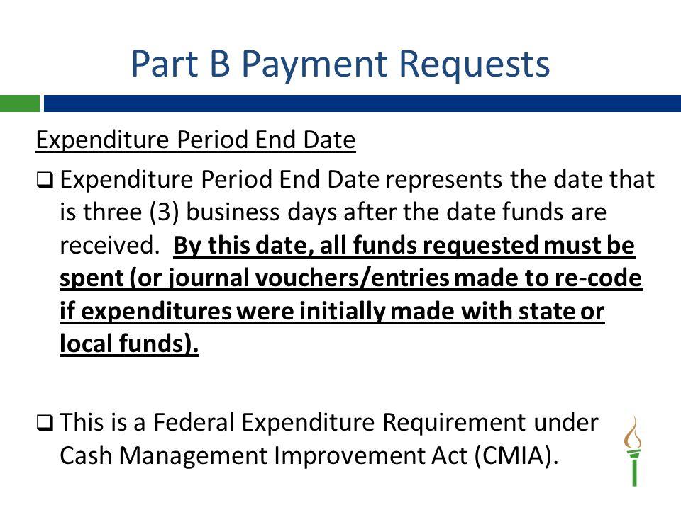 Part B Final Expenditure Report