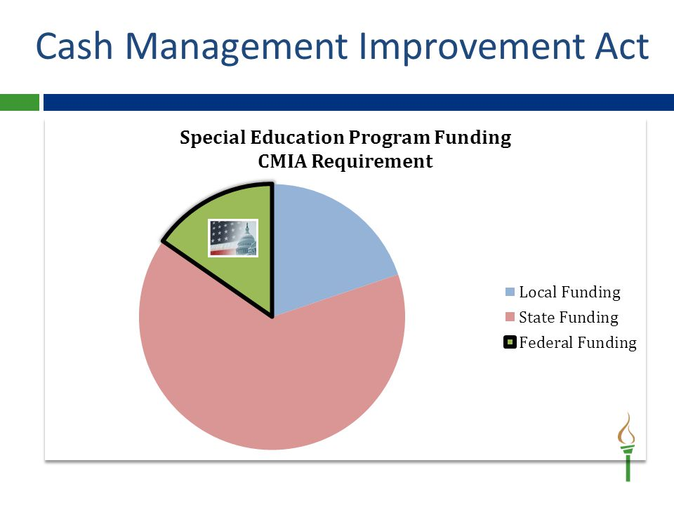 When receiving federal funds LEAs must have either: Already spent the funds -OR- Will spend the funds within 3 business days of receipt of funds **Violating CMIA requires interest to be calculated and funds returned.