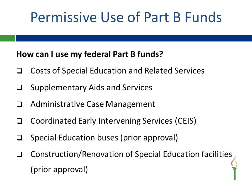 How can I use my federal Part B funds.