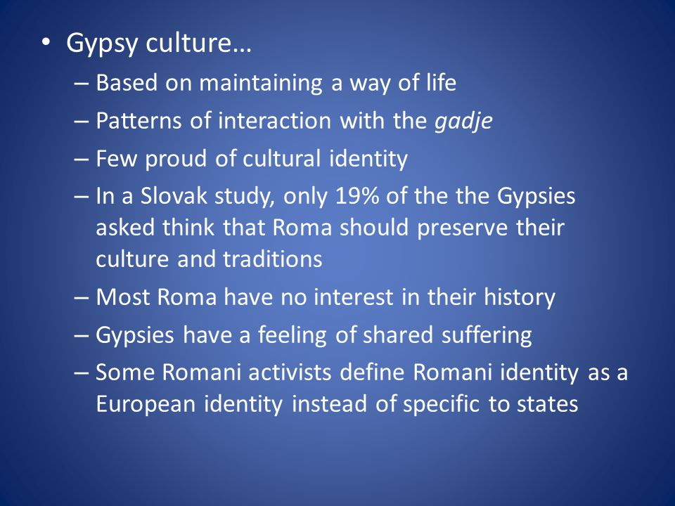 Romani Organizations -After the fall of communism many activists saw the creation of organizations the most appropriate vehicle for Gypsy mobilization -Activists focused on gaining political representation, publicizing human rights abuses, and alleviating socioeconomic problems