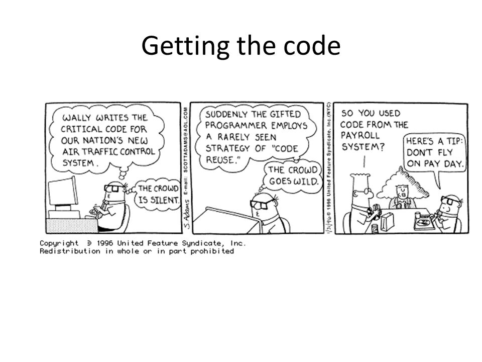 Getting the code