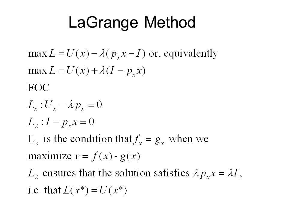 LaGrange Method