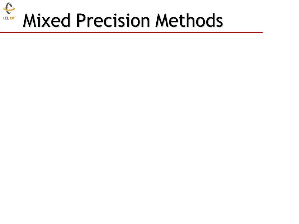 Mixed Precision Methods