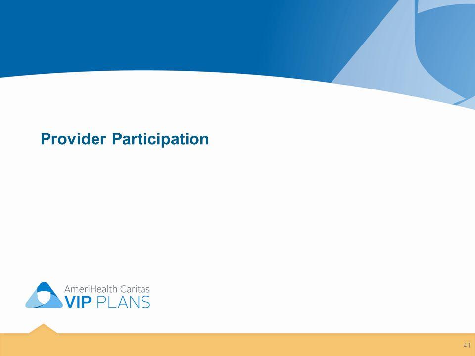 Provider Participation 41