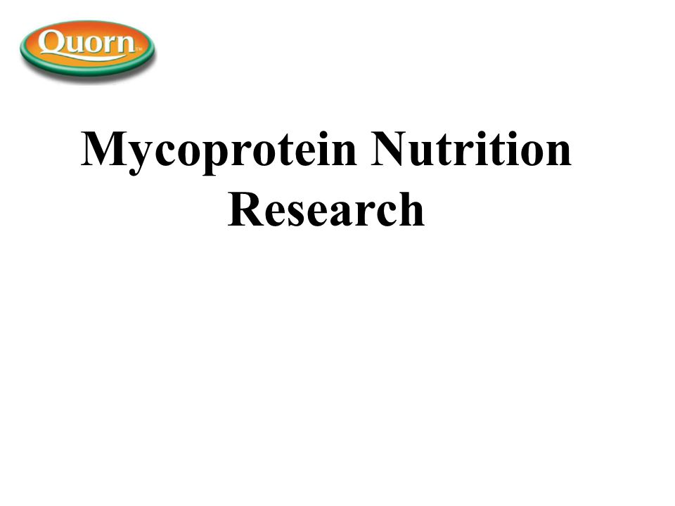 Mycoprotein Nutrition Research