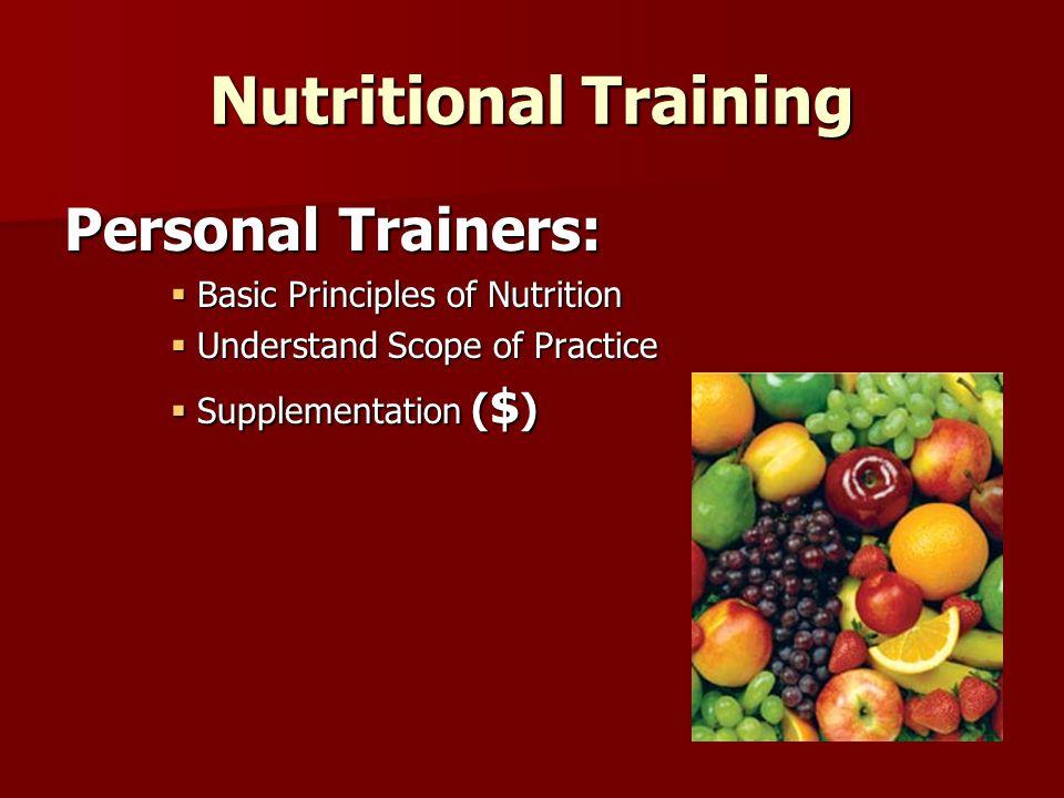 Nutritional Training Nutrition Prescription Prescription of Nutrition is EASY!!.