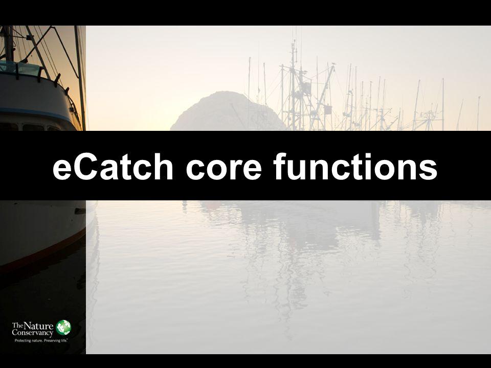 eCatch core functions