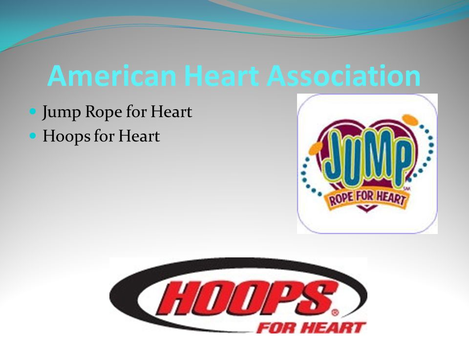 American Heart Association Jump Rope for Heart Hoops for Heart