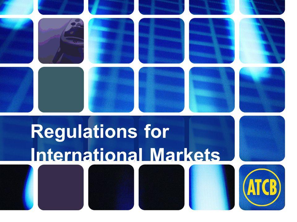 Washington Laboratories (301) 417-0220 web: www.wll.com7560 Lindbergh Dr. Gaithersburg, MD 20879 Regulations for International Markets