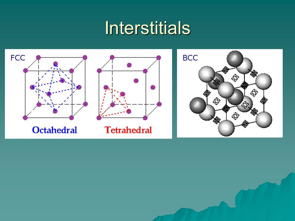 Interstitials BCCFCC
