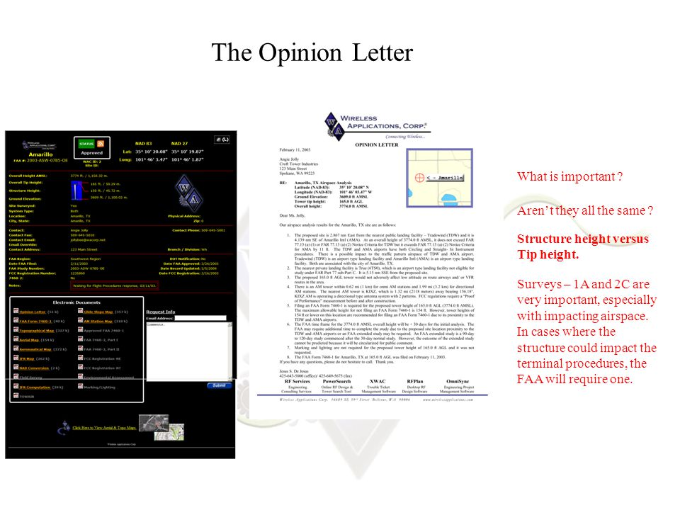 The Opinion Letter What is important .Aren't they all the same .