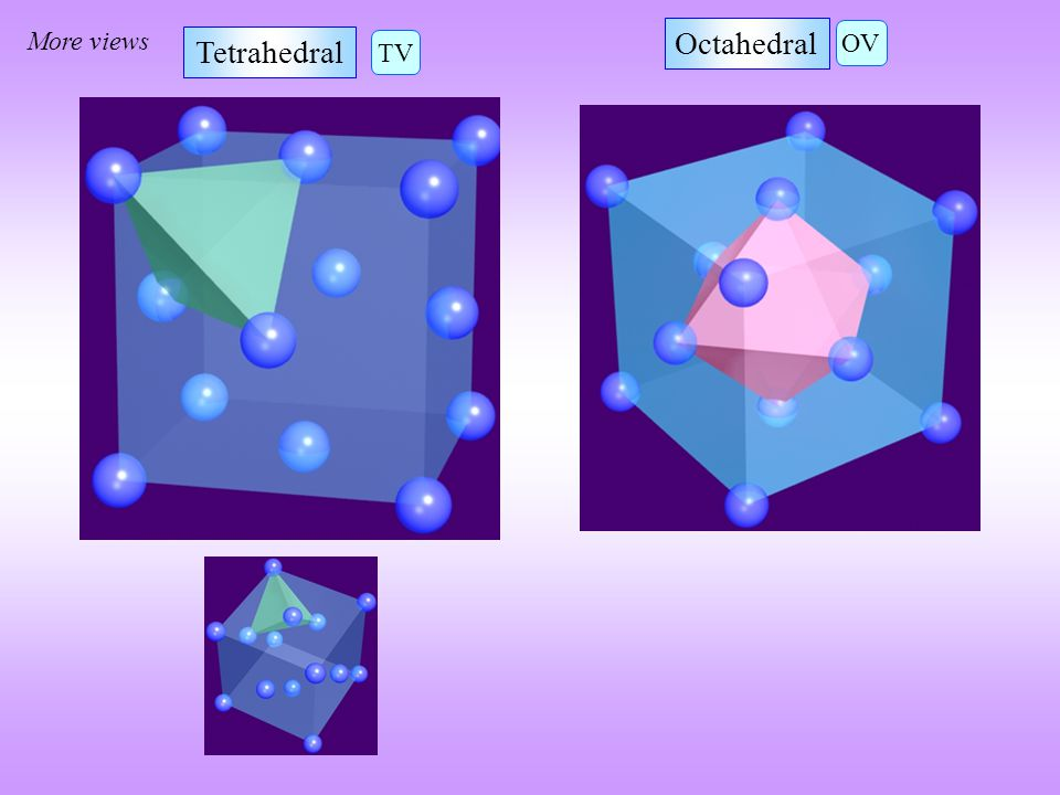 More views Tetrahedral Octahedral OV TV