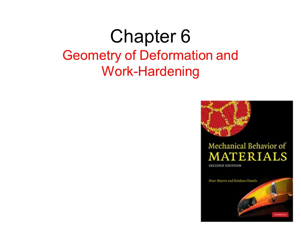 Chapter 6 Geometry of Deformation and Work-Hardening
