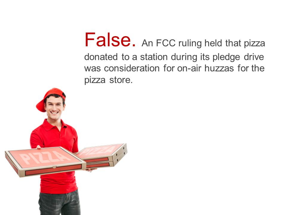  True  False  It's complicated The FCC's underwriting policy encourages noncommercial stations to be enterprising.
