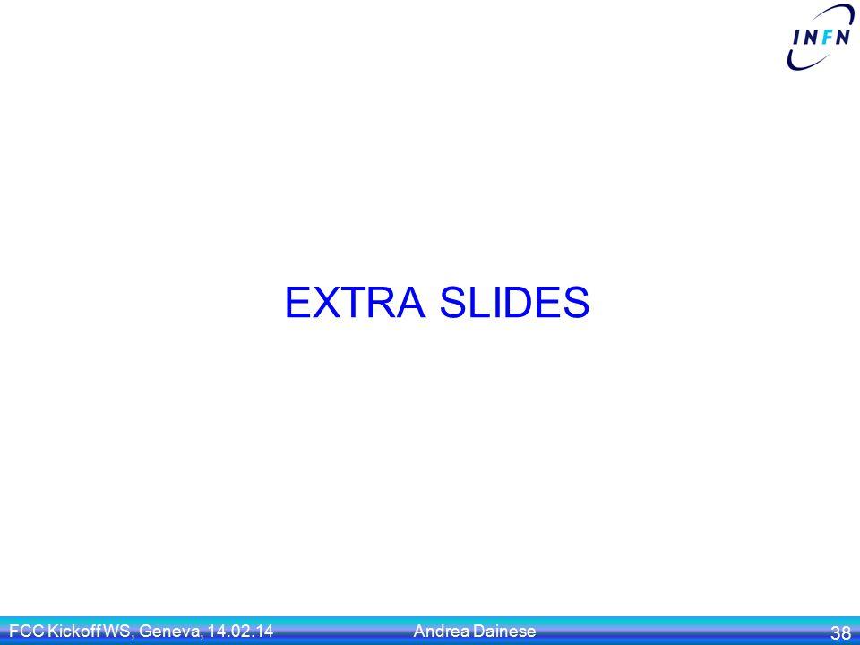EXTRA SLIDES FCC Kickoff WS, Geneva, 14.02.14 Andrea Dainese 38