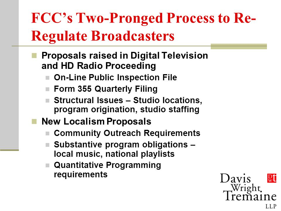 DTV Transition Publicity New Order released in early March Two options on publicity for commercial broadcaster plus one for noncommercial stations Detailed menu of required PSAs and crawls New FCC Form 388 No requirement for translators, but urge that they begin notification about converted boxes that don't pass analog signals