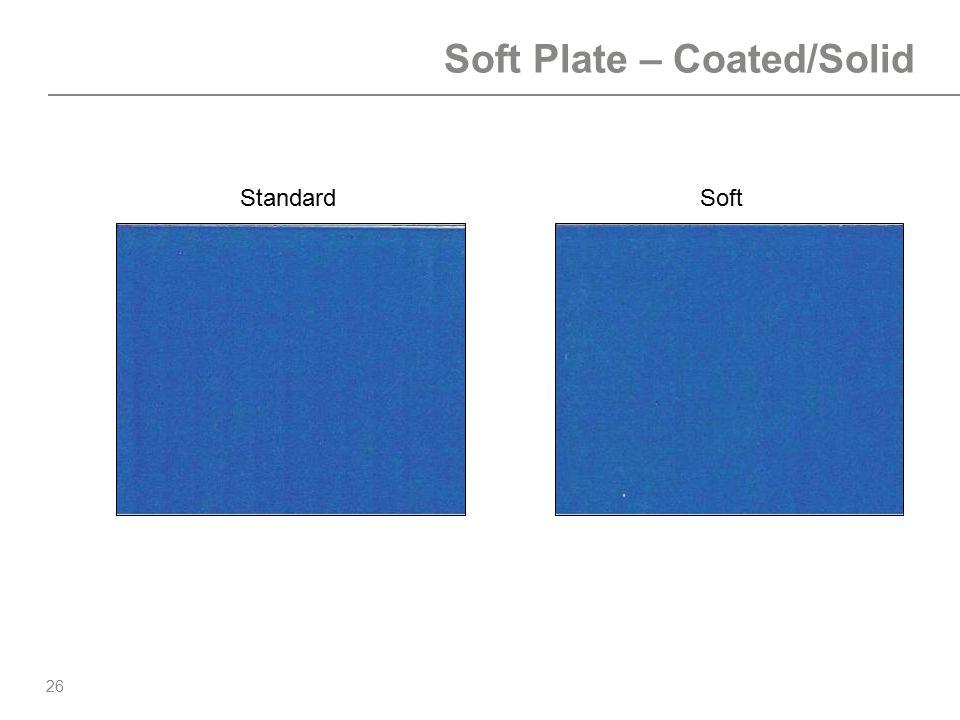 26 Soft Plate – Coated/Solid StandardSoft