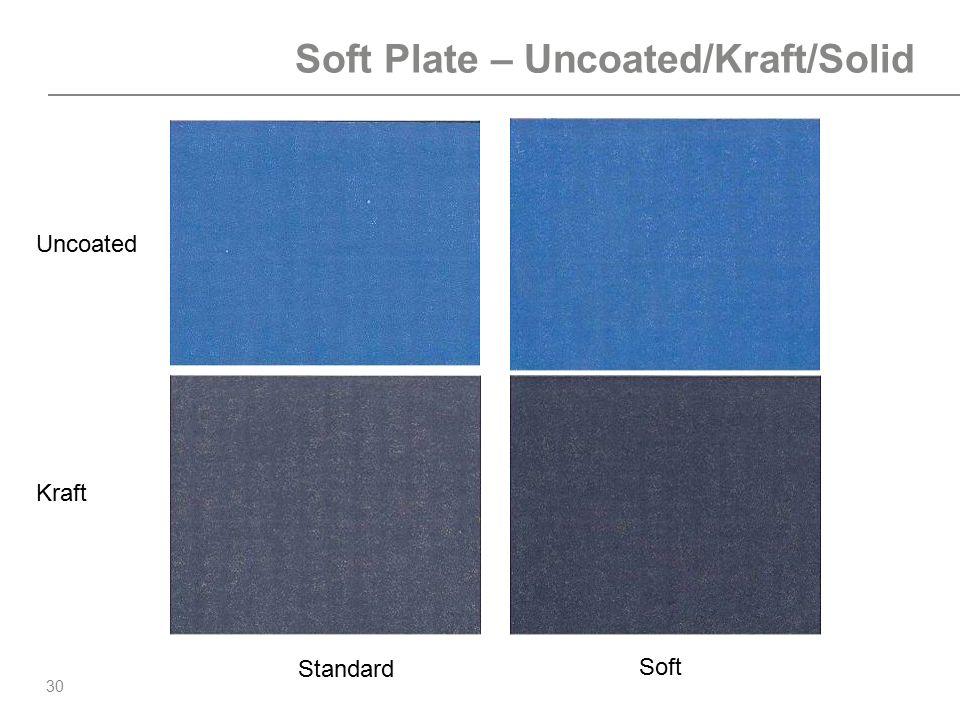 30 Soft Plate – Uncoated/Kraft/Solid Standard Soft Uncoated Kraft