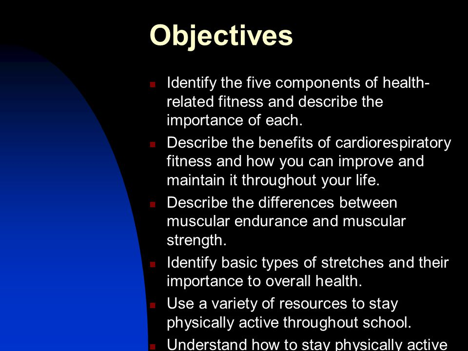 Intensity For most people intensities within the range of 60 to 80 percent of their heart rate reserve (HRR) are good enough to bring improvements in cardiorespiratory fitness (ACSM 2006)