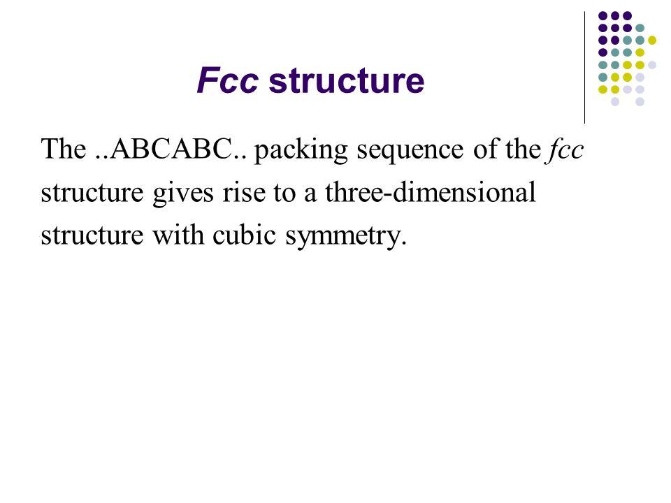 Fcc structure The..ABCABC..
