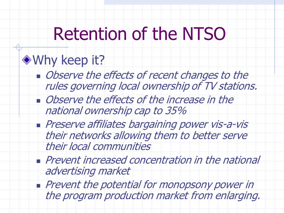 Retention of the CBCO Why keep it.Prevent cable operators from favoring their own stations.