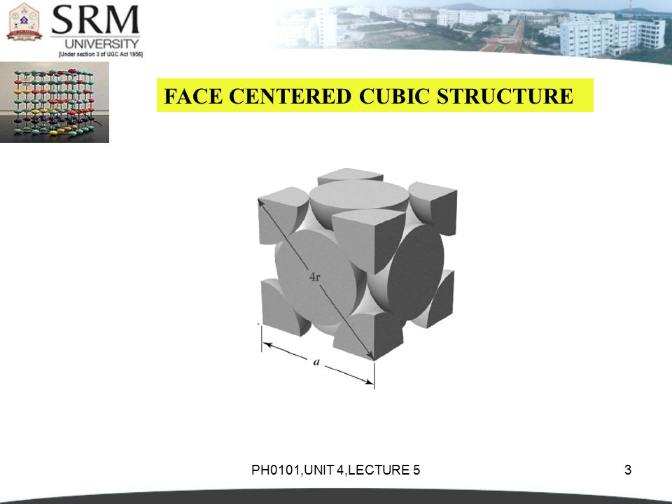 PH0101,UNIT 4,LECTURE 53 FACE CENTERED CUBIC STRUCTURE