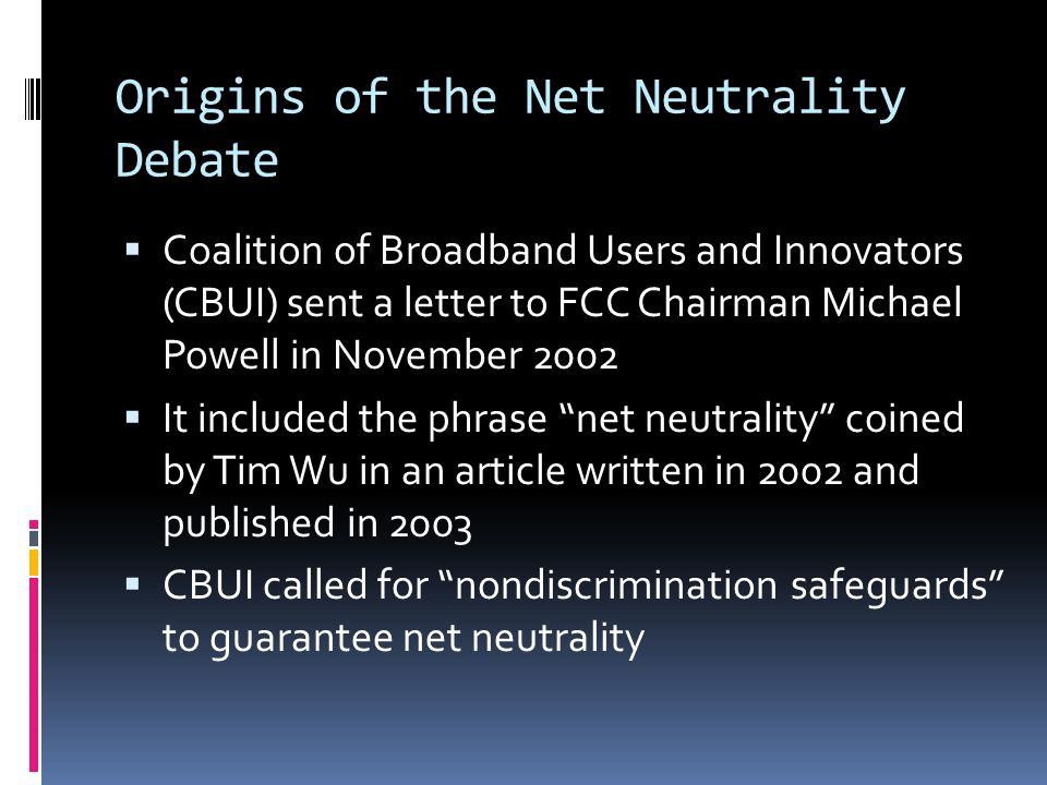 The National Broadband Plan  FCC announced intention to guarantee net neutrality in spite of Comcast ruling in 2009  Genachowski spoke of a third way between heavy-handed prescriptive regulation and the light-touch approach of the pastthird way  FCC would attempt to reclassify transmission component of broadband as a telecommunication service