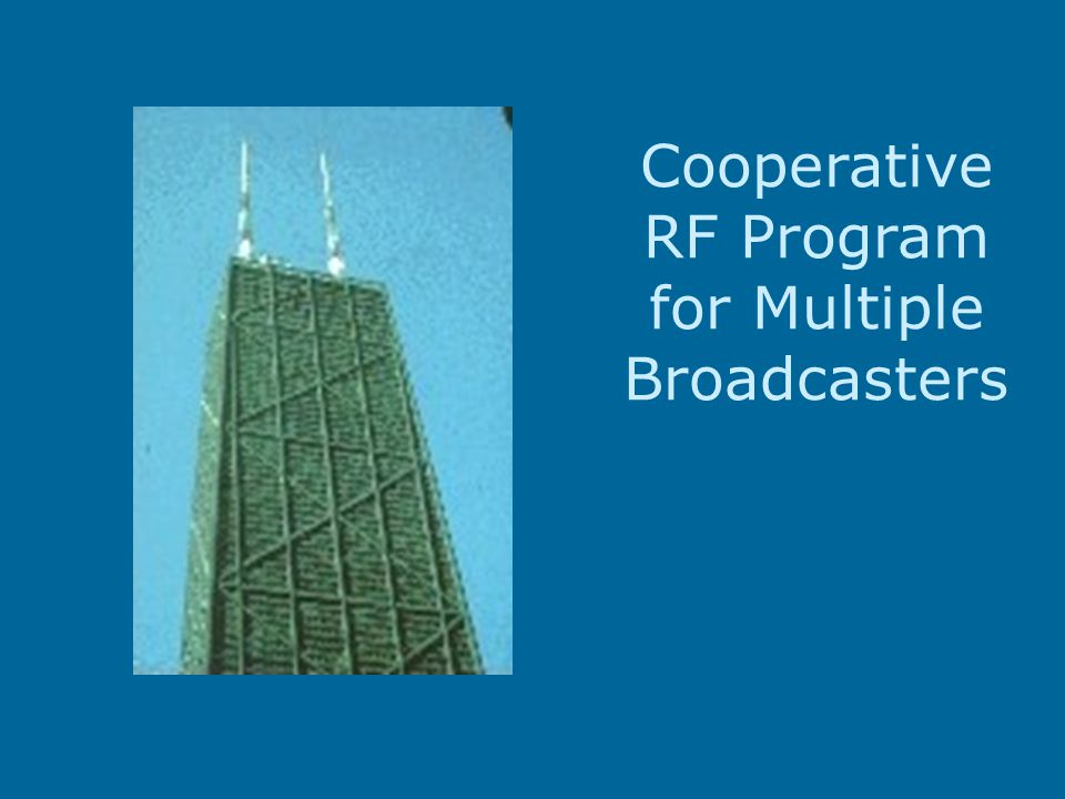 Cooperative RF Program for Multiple Broadcasters