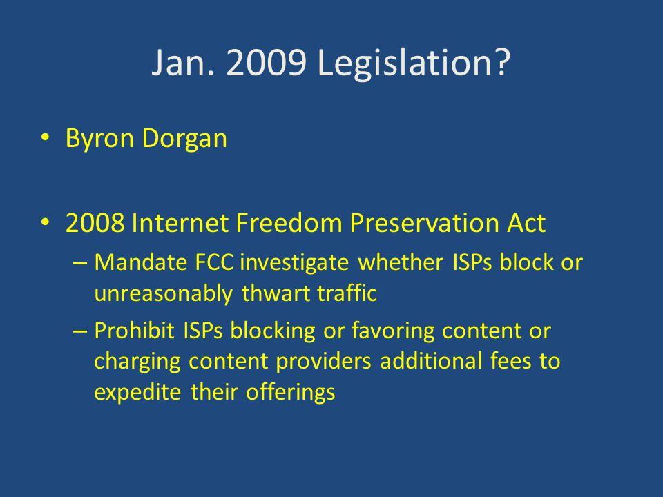 Jan. 2009 Legislation.