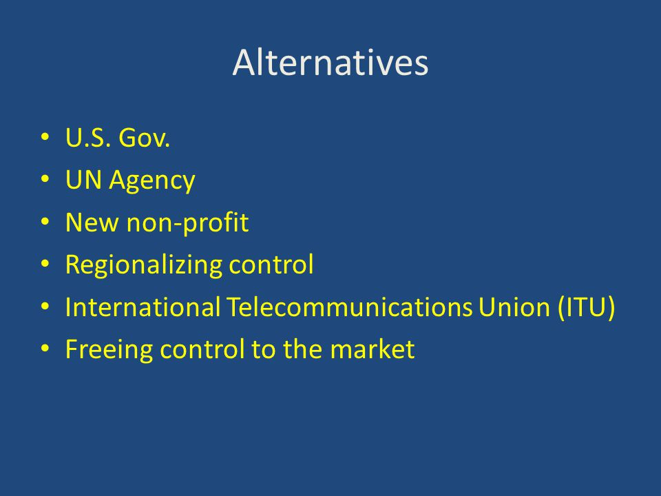 Alternatives U.S.Gov.