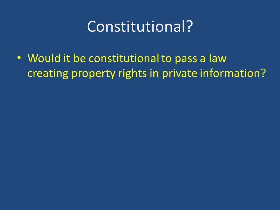 Constitutional.