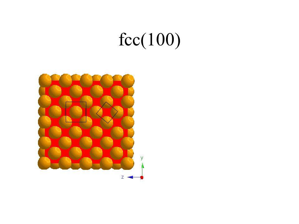 fcc(100)