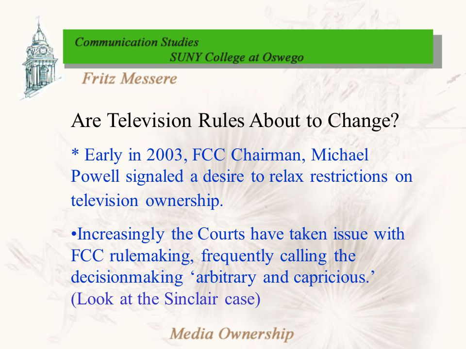 Are Television Rules About to Change.