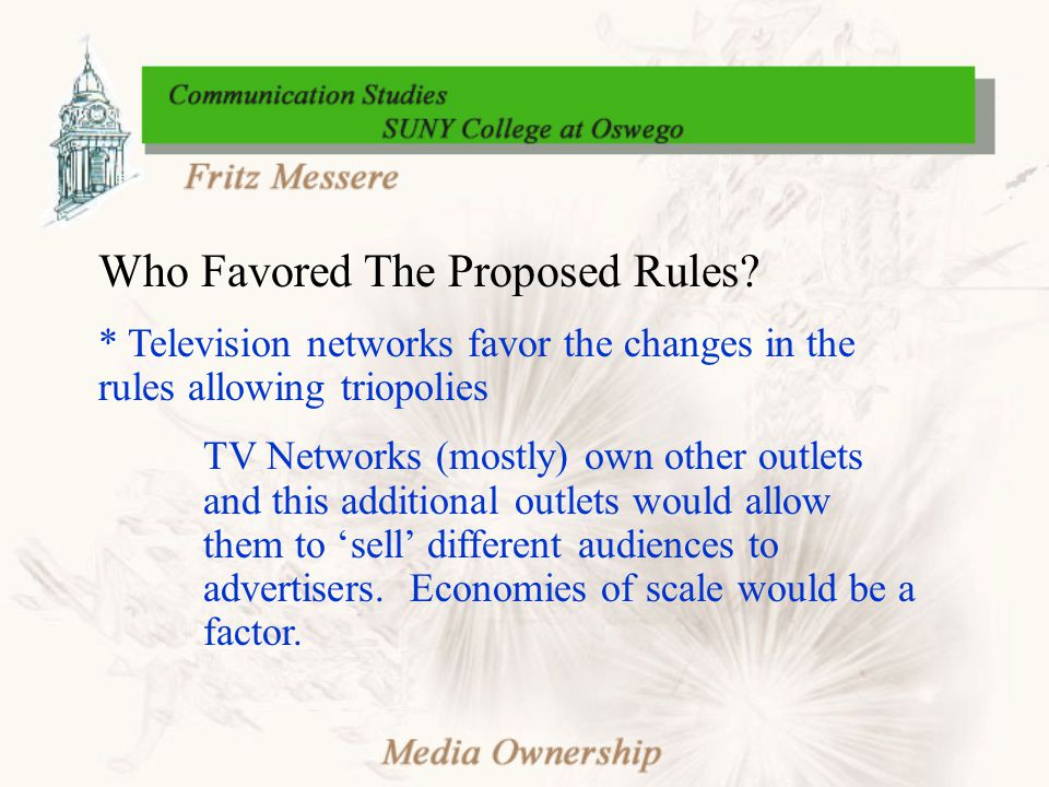 Who Favored The Proposed Rules.
