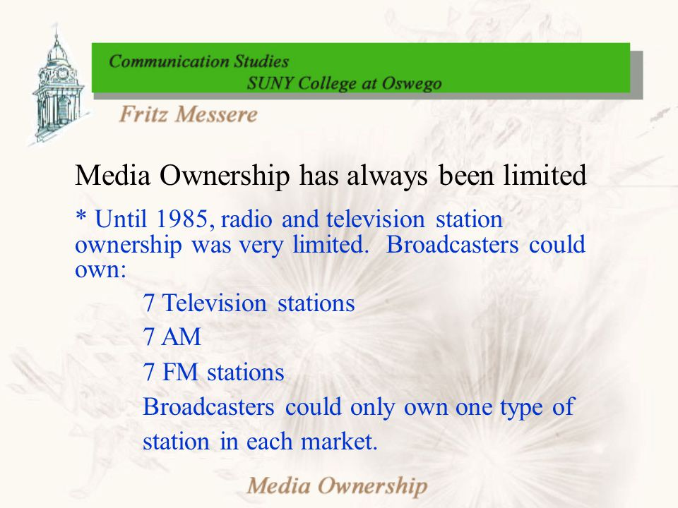 Proposed Changes in Media Ownership