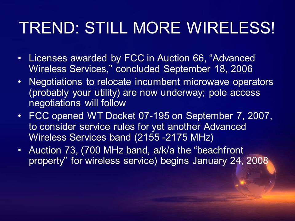 TREND: STILL MORE WIRELESS.