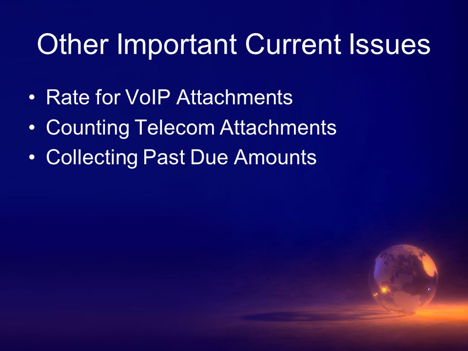 Rate for VoIP Attachments FCC's IP-Enabled Proceeding Several cases