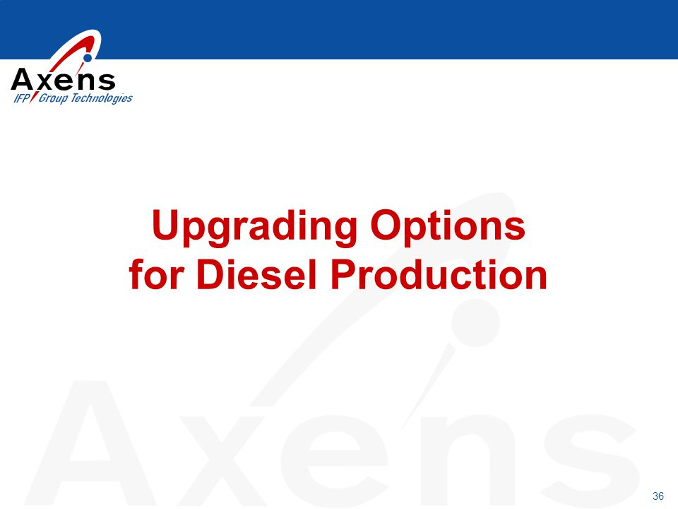 36 Upgrading Options for Diesel Production