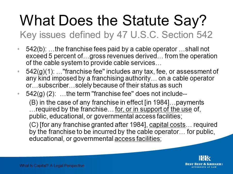 What Does the Statute Say.1.What is a tax, fee or assessment.